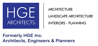 HGE Architects, Architecture, Landscape Architecture, Interiors-Planning Logo